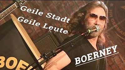 Titelbild Video für den Song 'Geile Stadt, Geile Leute'. Deutschrocker Boerney
