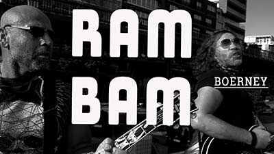 Titelbild Video für den Song 'RAM BAM'. Deutschrocker Boerney